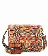 Patricia Nash Wavy Stripe Collection Hermosa Pyramid-Studded Cross-Body Bag