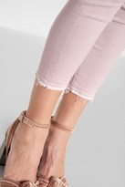 7 For All Mankind Ankle Skinny With Raw Hem In Mauve