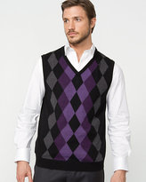 Le Château Wool Blend Argyle Sweater Vest