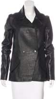 Alexander Wang Embossed Leather Jacket w/ Tags