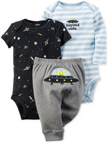 Carter's Baby Boys' 3-Pc. Space Bodysuits & Pants Set