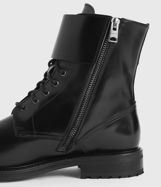 AllSaints Brigade Leather Boots