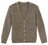Petit Bateau Womens wool and cotton mouliné knit cardigan