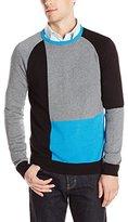 Calvin Klein Men's Cotton Modal Color Block Sweater