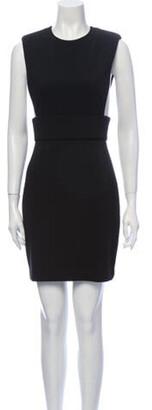 Aq/Aq Crew Neck Mini Dress Black Crew Neck Mini Dress