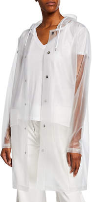 Rains Water-Resistant Long Matte Jacket