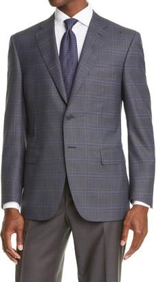 Canali Sienna Classic Fit Glen Plaid Wool Sport Coat