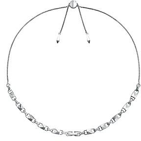 Michael Kors Mercer Link Sterling Silver Slider Necklace in 14K Gold-Plated Sterling Silver, 14K Rose Gold-Plated Sterling Silver or Solid Sterling Silver, 16