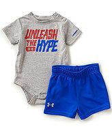 Under Armour Baby Boys Newborn-12 Months Unleash the Hype Short-Sleeve Bodysuit & Solid Shorts Set