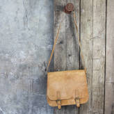Nkuku Savannah Leather Saddle Bag