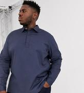 Asos Design DESIGN Plus regular fit rugby oxford shirt in navy