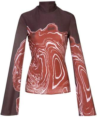 Ellery abstract-print roll-neck top