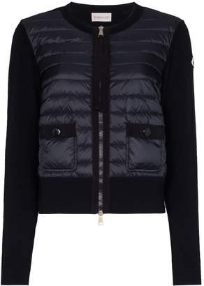 Moncler padded wool cardigan