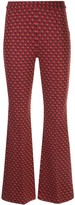 Rosetta Getty pull-on cropped flare trousers