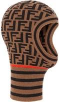 Fendi FF motif balaclava-style hat