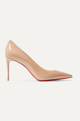 Christian Louboutin Kate 85 Patent-leather Pumps - Beige