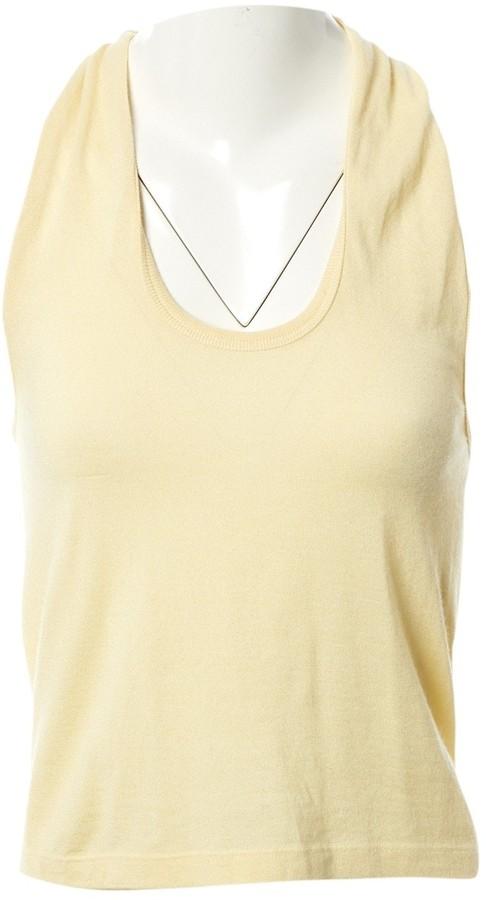 Louis Vuitton Yellow Cashmere Top for Women