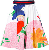 Alice + Olivia Alice+Olivia - high waisted printed pleated skirt - women - Cotton/Spandex/Elastane - 4