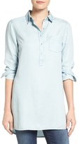 Caslon Chambray Popover Tunic (Regular & Petite)
