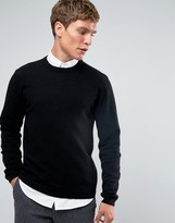 Asos Cashmere Crew Neck Sweater in Black
