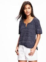 Old Navy Split-Neck Boyfriend Tee for Women