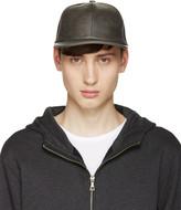 A.P.C. Grey Faux-Leather Cap