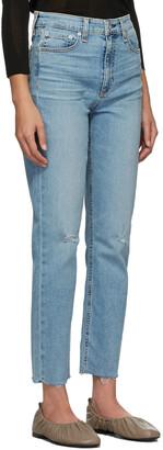 Rag & Bone Blue Nina Ankle Cigarette Jeans