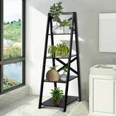 Ebern Designs Lessard Shelf Storage Display Ladder Bookcase Ebern Designs Color: Black
