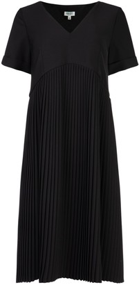 Kenzo Pleated Crepe Dress