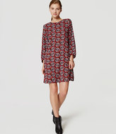 LOFT Tall Shadow Floral Shift Dress