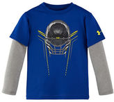 Under Armour Boys 2-7 Iron Helmet Slider Sleeves Tee