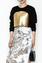 re:named Gold Foil Sweatshirt