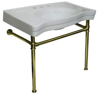 """Kingston Brass Imperial Ceramic 36"""" Console Bathroom Sink with Overflow Kingston Brass"""
