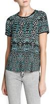 MANGO Printed flowy blouse
