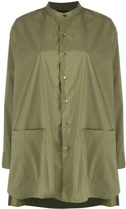 Zucca Longline Mandarin Collar Shirt