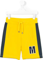 MSGM two tone track shorts - kids - Cotton - 6 yrs