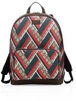 Gucci Chevron Canvas Backpack