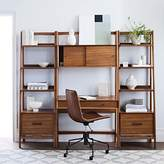 west elm Mid-Century Wall Desk & Shelf Set - Narrow