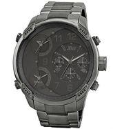 JBW The G4 Mens Diamond-Accent Gunmetal Stainless Steel Watch J6248J
