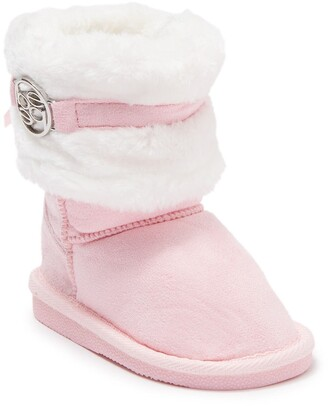 Bebe Faux Fur Trimmed Winter Boot