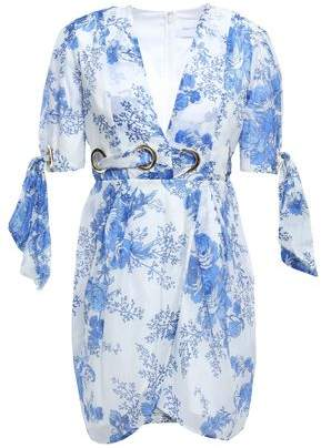Alice McCall Only Everything Wrap-effect Floral-print Cotton And Silk-blend Gauze Mini Dress