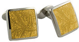 David Donahue Men's 'Paisley Lemon' Sterling Silver Cuff Links
