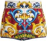 Dolce & Gabbana Majolica-print high-waist shorts