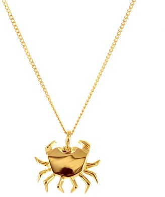 Origami Jewellery Mini Crab Necklace Gold