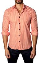 Jared Lang Cotton Button-Down Plaid Sportshirt