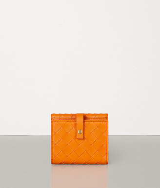 Bottega Veneta SMALL FRENCH WALLET IN INTRECCIATO NAPPA