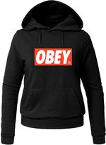 OBEY Logo Printed Hoodies OBEY Logo Printed For Ladies Womens Hoodies Sweatshirts Pullover Tops