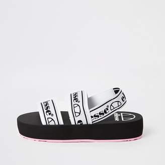 River Island Ellesse black strap flatform sandals