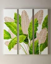 Legends Of Asia Palm Leaf Carved Wall Art, Set of 3