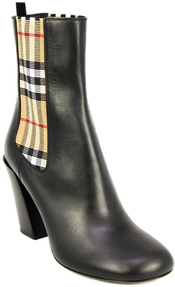 Burberry Vintage Check Leather Ankle Boot